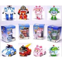 Mainan Robot Poli Car 1 Set Robocar Transform