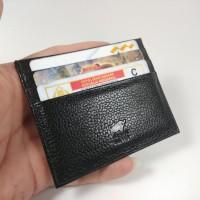 DOMPET KARTU TIPIS SLIM CARD HOLDER IMPORT KULIT ASLI BRANDED BRAUN