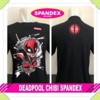 Murah Baju Pria Kaos Distro Superhero DEADPOOL CHIBI SPANDEX