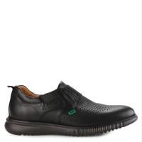 Sepatu Pantofel Kickers Kulit Original Hitam
