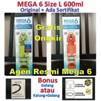 Mega 6 (Size L/600ml) - Far Infrared Hydrogen Water (Botol Mega 6