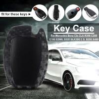 Cover Pelindung Kunci Mobil Bahan Carbon Fiber untuk Mercedes Benz