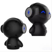 Two 2 in 1 Speaker Bluetooth Portable Power Bank Model Robot -