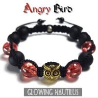 Gelang Batu Asli Pulseria Shambala Angry Bird 10mm