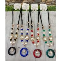 Kalung Simple Batu Alam Kalung Etnik Fashion Wanita Tokopelanginicer