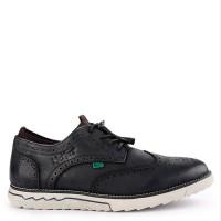 Sepatu Pantofel Kickers Original Kulit Hitam