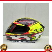 promo HELM KYT R10 2 YELLOW FLUO BLACK RED
