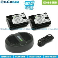 promo Wasabi Power PAKET 2 Battery & Charger for LP-E6 - 6D 7