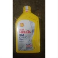 Oli Mesin Mobil Shell Helix HX6 10W-40 SN Plus 1 Liter Scan Barcode