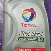 Oli Mesin Mobil Total Quartz 8000 Future 0W-20 1 Liter Asli