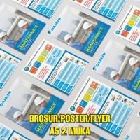 Cetak Brosur A5 2 Muka Bahan Art Paper 150 gsm FREE DESAIN