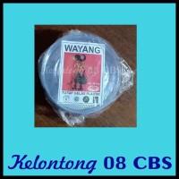 OPEN DS ORI Tutup Gelas Plastik Bening Wayang Per 10 Pak 50 Pcs MMJE