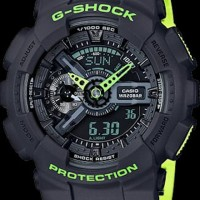 jam tangan casio g shock ga 110 black green ori bm