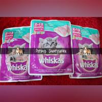 Makanan Kucing Whiskas Junior Pounch 85 Gr Ready TUNA dan MACKEREL