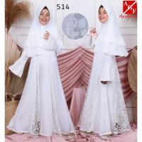 AGNES Baju Muslim Anak / Gamis Putih Anak / Baju Syari Putih Anak 514