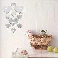 stiker cermin hiasan dinding dekorasi bentuk love kado anak wallsticke