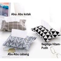 Tempat Tisu Sarung Cover Tissue Bermotif - Kotak Abu