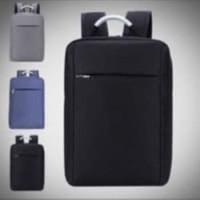 TAS RANSEL/TAS PUNGGUNG SLIM MODEL DENGAN GAGANG BESI+USB NEW MODEL - Hitam