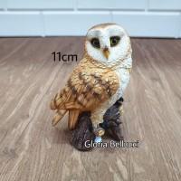 patung pajangan miniatur burung hantu owl