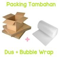 Packing Tambahan Dus + Buble Wrap