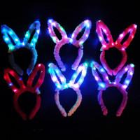 Bando lampu LED Bunny telinga kelinci party natal tahun baru