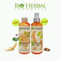 Paket Perawatan Rambut Bio Herbal Ginseng Shampoo / Hair Tonic BPOM