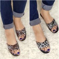 Sandal Wanita Jelly Leopard Sandal Karet Wanita Sandal Wanita Import