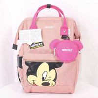 ANELLO Backpack Mickey Mouse Good Quality / Tas Ransel Fashion Wanita