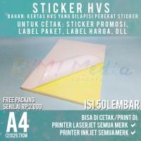 Kertas Sticker HVS A4 isi 50 Lembar / Stiker Doff A4