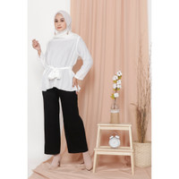 Hijab Ellysha KINGSTON PLEATED CULLOTES PANTS SHIMMER BLACK