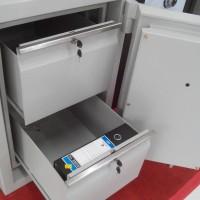 brankas cabinet 2 laci H : 80 cm 2 pintu susun fireproof dokumen arsip