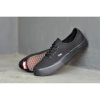 Sepatu Pria Sneakers Vans Authentic Sol Hitam Kanvas Poxing Premium DT