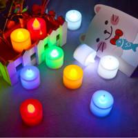 Lampu LED Lilin elektrik Mini Lampu Tidur Hias Dekorasi Aman Tanpa api