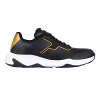 Sepatu sneakers pria piero mentality - black/gold/white Original