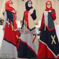 Gamis Bintang dress flanel garment mix(adem.tebal)allsize m.L.xL