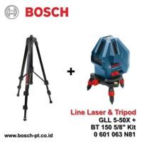 "Bosch Line Laser Level GLL 5-50 X + BT 150 Kit / 5-50X BT150 5/8"""