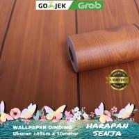triple kayu coklat bergaris hitam - Wallpaper Dinding 10 meter