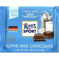 Ritter Sport Alpine Milk Chocolate 100gr