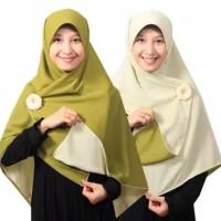 jilbab instan panjang 130x130 segi empat motif warna timbal balik