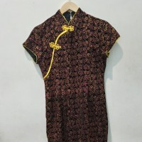 *Preloved* Dress Gaun Pesta Cheongsam Glitter Sequin Caroline Kosasih