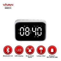 Speaker Bluetooth VIVAN VS5 Speaker Bluetooth 5.0 with Alarm Clock