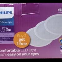 DOWNLIGHT LED PHILIPS PAKET 2 GRATIS 1 MESON 3,5 W WATT 3,5W 3 INCH