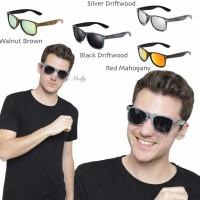 Anti Uv Sunglasses - Kacamata Pria & Wanita - Motif Kayu - Hm420