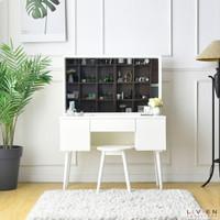 Meja Rias Kayu Minimalis Moana Livien Cantik dan Murah Cokelat / Putih