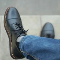 OXFORD BLACK Sepatu Pantofel fantofel Formal kantor Kerja Pesta