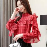 baju kemeja wanita ala korea