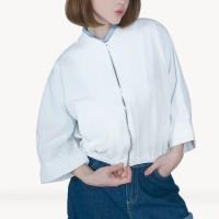 Kakuu Basic - Crop Zipper Jacket