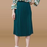 Kakuu Basic - Pleat Flare Midi Skirt