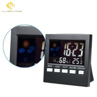 Thermometer Hygrometer LCD Digital Indoor with Clock Weather