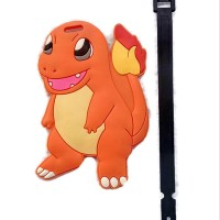 tas koper anak luggage Bag tag Baggage Hand travel Charmander oranye